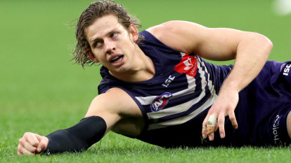 Dockers captain Nat Fyfe in hospital with elbow injury