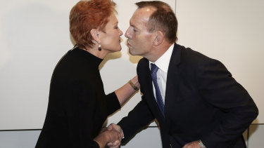 Tony Abbott launches Pauline Hanson's book on Tuesday.