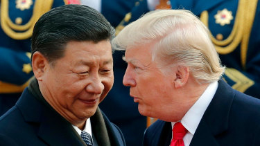 US President Donald Trump with Chinese President Xi Jinping in November.