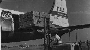 The TAA flight that Surua was accidentally locked in.