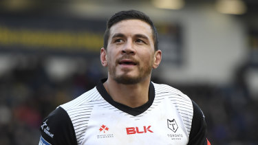 Sonny Bill Williams made his Super League debut for the Toronto Wolfpack on Sunday.