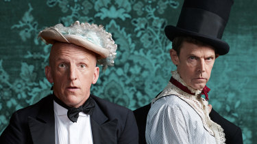 David Woods, left, and Jon Haynes  in The Importance of Being Earnest.