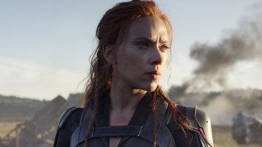 Out in April: Scarlett Johansson in Black Widow.