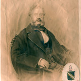 Henry Keck, aged 63, pictured on Christmas Day 1863.
