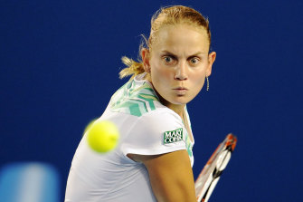 Jelena Dokic pictured at the 2009 Australian Open.