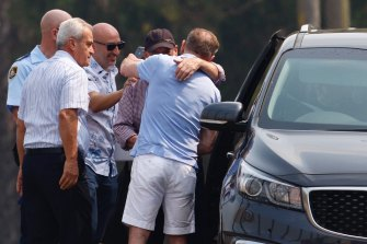 Eddie Obeid was escorted from the prison by corrective services officers where he was met by his sons and lawyer.