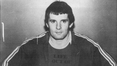 Ian John Steele, escaped criminal and bank robber, pictured in 1983.