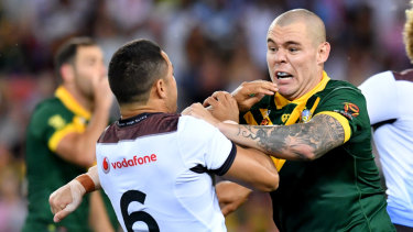 Limbo: Jarryd Hayne's future is clouded by David Klemmer's movements.
