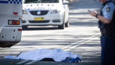 A man was found dead on the street in Forest Lodge, in Sydney's inner west on Friday.