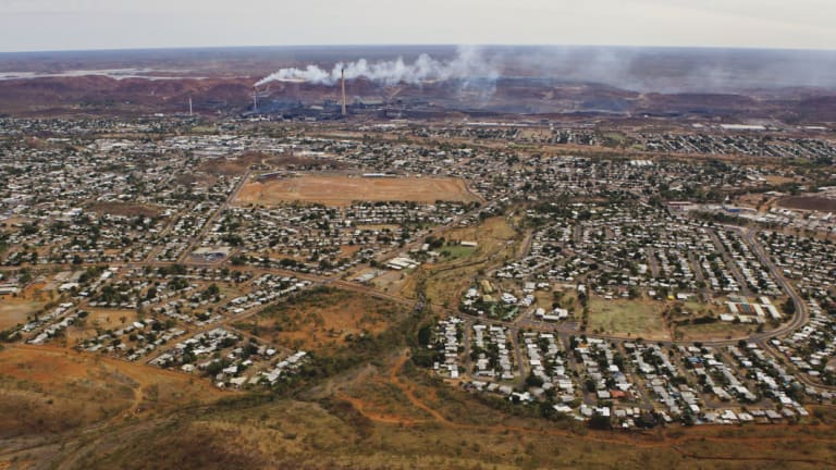 An aerial view of Mount Isa. Legend International owned 100 per cent of shares in Paradise Phosphate which owns a major deposit outside of Mount Isa.