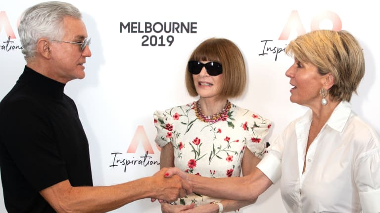 How Julie Bishop won musical chairs among celebrities at the tennis