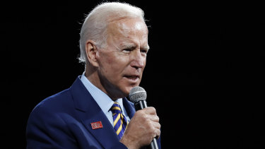 Democratic presidential candidate and former vice president, Joe Biden.