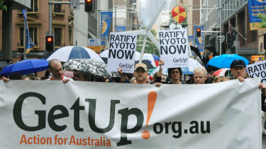 "Scott Morrison wants to ""revisit"" a ruling by the Australian Electoral Commission that GetUp is an independent entity."