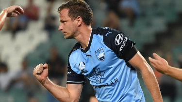 No risks: Alex Wilkinson is nursing a tight Achilles and hasn't flown to South Korea with the rest of the Sydney FC team.
