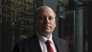Westpac's CEO, Peter King. Sydney, November 2, 2020. Photo: Rhett Wyman/AFR