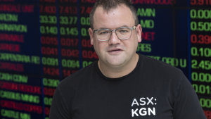 Kogan, founded and led by Ruslan Kogan, said on Friday that revenue grew by a third for the March quarter, down from the 97 per cent achieved in the first half of the fiscal year. The company's shares fell by more than 14 per cent on Friday.