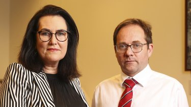 Senator Deborah O'Neill and Labor MP Daniel Mulino in Canberra on Wednesday.