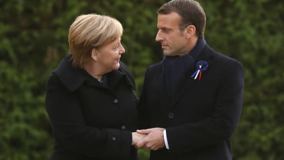 Merkel and Macron got along so well one lady thought they were married