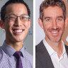 James Ruse alumni Eddie Woo, Scott Farquhar, Catriona Noble and David Fung.