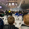 Anger at seats without a view at Boomers versus USA clash