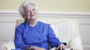 First lady Barbara Bush in Washington in 1990.