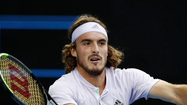 The upward trajectory of Stefanos Tsitsipas has been halted by the coronavirus lockdown.