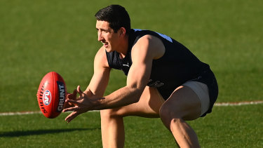 Solid form: Carlton's Jacob Weitering.