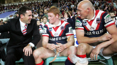 Brad Fittler, left, and Craig Fitzgibbon, right, have a friendship spanning more than 20 years.