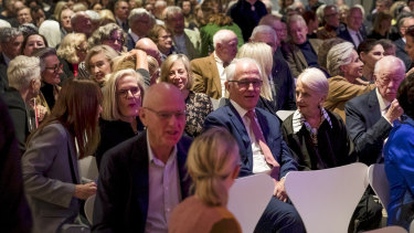 Former prime ministers and premiers were among those who gathered for Edmund George Capon's memorial on Tuesday night.