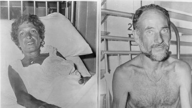 Henri and Jose Bourdens in Darwin Hospital after their ordeal.