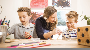 Alina McGrath has already started to think about how she will entertain her boys, Luke, 8 and Joshua, 6, if they have to self-isolate at home.