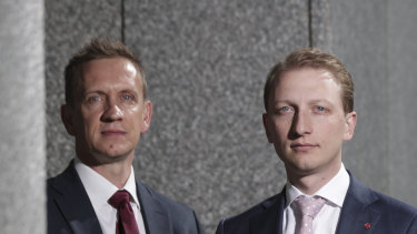 Labor MP Julian Hill and Liberal senator James Paterson.