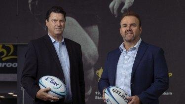 RA chairman Hamish McLennan (left) and CEO Andy Marinos (right).