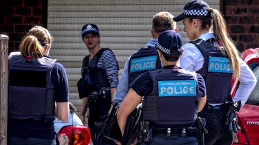 Police seached cars at the Werribee home of Shire Ali's parents on Saturday.