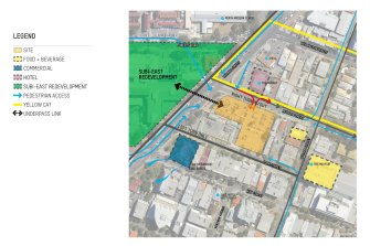 The L-shaped block of land is located near the proposed Subi East redevelopment and Perth Modern.