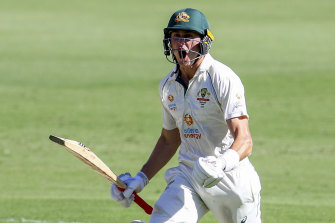 Bankable: Marnus Labuschagne boosted his stocks.