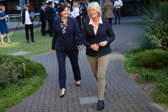 Deputy Labor leader Yasmin Catley (right) sacked the staffer involved shortly after Tuesday's press conference.