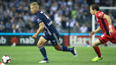 He's back: Japanese superstar Keisuke Honda is expected to play some minutes against Perth Glory on Sunday.