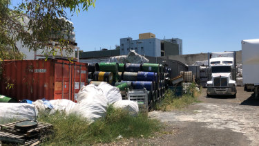 The chemical dump site in Campbellfield originally believed to contain only industrial rubbish