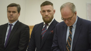 Conor McGregor appears in a Brooklyn court.