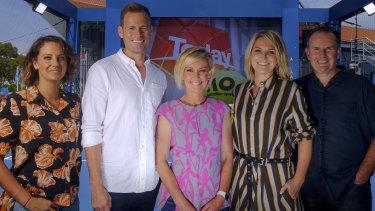 The new Today Show hosts (L-R) Brooke Boney, Tom Steinfort, Deb Knight, Georgie Gardner and Tony Jones.