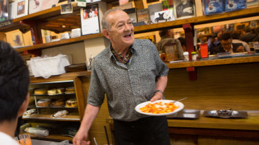Sisto Malaspina will be greatly missed behind the counter at Pellegrini's.