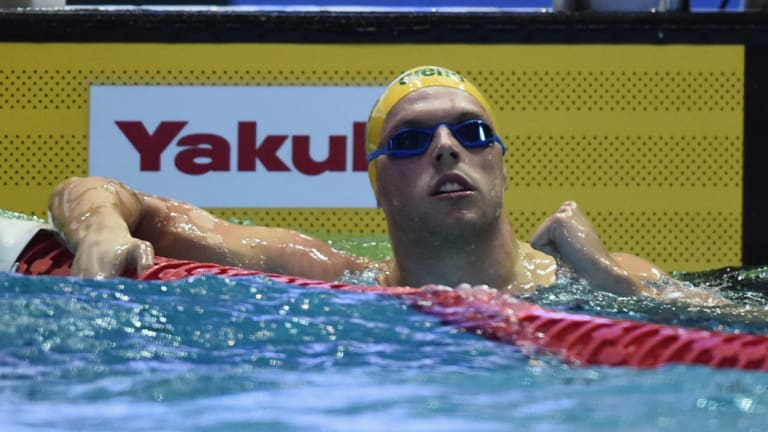 Guinea pig: Kyle Chalmers winning gold in Tokyo.