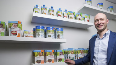 Andrew Cohen, CEO of Bellamy's Organic, has warned sales are falling.