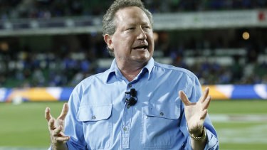 Andrew 'Twiggy' Forrest is  open to making a financial investment in Australian rugby - but on certain conditions.