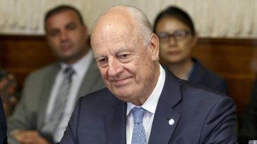 UN Special Envoy of the Secretary-General for Syria Staffan de Mistura.