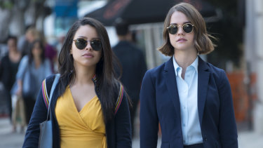 "The ""hugely likeable"" Australian actress Maia Mitchell, right, stars alongside Cierra Ramirez in Good Trouble."