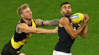 Carlton's Jack Martin had a great game on debut for the club.