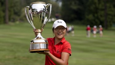 Ko winning the Canadian Women's Open as a 15-year-old back in 2012.