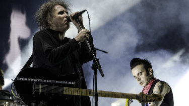 Robert Smith and Simon Gallup of the Cure. The band will play their landmark 1989 album Disintegration in its entirety at Vivid.